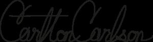 Carlton Carlson signature