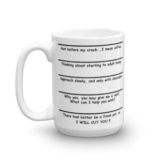 Attitude Coffee Mug right 15oz